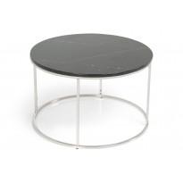 Sohvapöytä New York Ø 80x50 cm musta marmori/teräs teräs jaloilla
