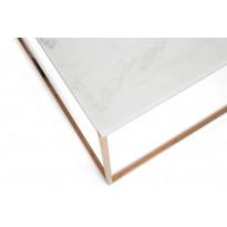Sohvapöytä New York 75x75x45 cm valkoinen marmori/kupari