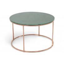 Sohvapöytä New York Ø 80x50 cm vihreä marmori/kupari