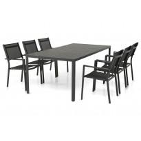 Ruokailuryhmä Pontevedra 6 Pontevedra tuolilla musta ei sisällä pehmusteita