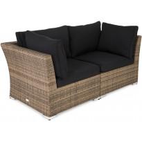 Lounge-sohva Cambridge, 2-istuttava, käsinojilla, hiekka