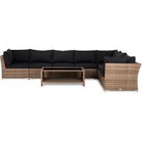 Oleskeluryhmä Cambridge, 7-istuttava, hiekka, pöytä, sohva