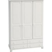 Vaatekaappi Lucera, 129x57x186cm, valkoinen