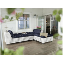 Lounge-nojatuoli Chichester, 2 kpl ja 2 divaaniosaa, valkoinen