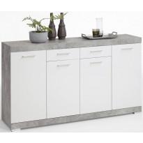 Senkki Cottbus, betoninharmaa/valkoinen