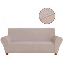 Beige venyvä sohvan suojapäällinen polyesteri