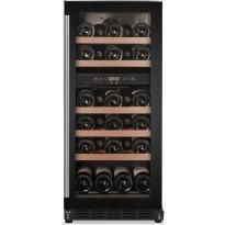 Kahden lämpötilan viinikaappi Cavin Scandinavian Collection 800, musta, integroitava