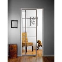 Liukuovi seinän sisään Stella Pocket Door M7, ristikko, 725x2040mm, alumiini