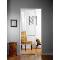 Liukuovi seinän sisään Stella Pocket Door M7, ristikko, 725x2040mm, valkoinen