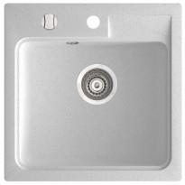 Komposiittiallas Easy Kitchen ISAO, 465x465mm, valkoinen, Tammiston poistotuote