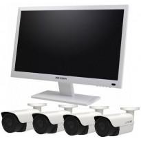 """Kameravalvontapaketti Hikvision Combo 22"""", 1 TB, 8 kanavaa + 4 valvontakameraa"""