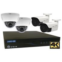 Valvontakamerajärjestelmä YCX, sis. tallennin 1 TB + 4 IP-kameraa