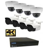 Valvontakamerajärjestelmä YCX, sis. tallennin 1 TB + 8 IP-kameraa