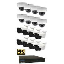 Valvontakamerajärjestelmä YCX, sis. tallennin 2 TB + 16 IP-kameraa