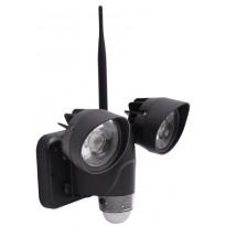 Valvontakamera turvavaloilla Celotron HD 720P, sis. liiketunnistin + tallennin + WLAN, Verkkokaupan poistotuote