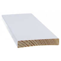 Peitelista Cent-Listat, 12x70x3300mm, mänty, valkoinen