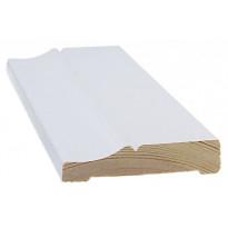 Peitelista/koristelista Cent-Listat, 15x70x3300mm, mänty, valkoinen