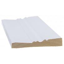 Peitelista/koristelista Cent-Listat, 3019P, 15x95x3300mm, mänty, valkoinen