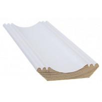 Kattolista Cent-Listat, 16x63x3300mm, koriste, mänty, valkoinen