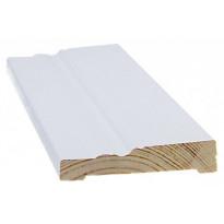 Peitelista/koristelista Cent-Listat, 14x68x3300mm, mänty, valkoinen