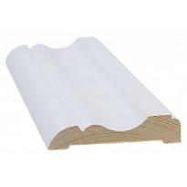 Peitelista/koristelista Cent-Listat, 15x69x2200mm, mänty, valkoinen