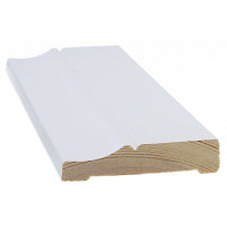 Peitelista/koristelista Cent-Listat, 15x70x2200mm, mänty, valkoinen