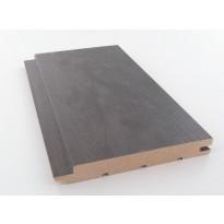 Saunapaneeli Cent-Listat, 15x120x2400mm, STS4, tervaleppä, kuultava musta