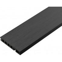 Terassilauta/aloituslauta Cent Särkkä puukomposiitti, 23x135x3600mm, antrasiitti