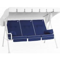 Istuinpehmuste pihakeinuun Comfort Garden, sininen/valkoinen
