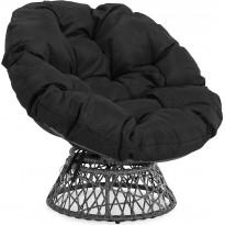 Nojatuoli Cozy, harmaa/musta, Verkkokaupan poistotuote