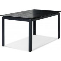 Ruokapöytä Tunis, jatkettava, 90x152/210cm, musta