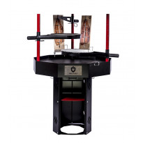 Pihagrilli Carelia Grill® 9K-100, korkea, ilman huuvaa, musta