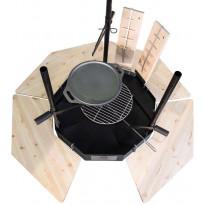Sivupöytä Carelia Grill® 9K-80 4kpl sarja