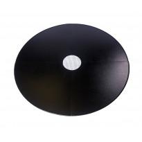 Lattiasuojapelti Carelia Grill®, Ø80cm tulisijoille, Ø180cm, musta