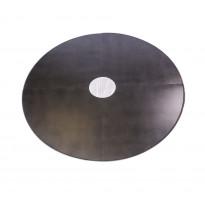 Lattiasuojapelti Carelia Grill®, Ø100cm tulisijoille, Ø200cm, antiikkihopea