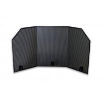 Tuuli- ja kipinäsuoja Carelia Grill® 9K-100, musta