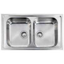 Keittiöallas CM Filoslim, 795x500mm, 2-altainen, rst