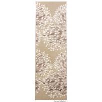 Käytävämatto Sydänpuu 68x220cm, harmaa/valkoinen