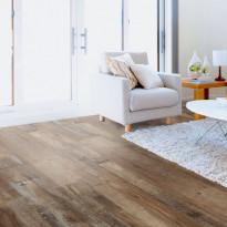 Vinyylilankku Concept Floor Profiline, Old Wood Mocca, integroitu alusmateriaali