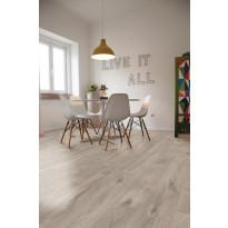 Vinyylikorkki Corkart CW738, Long Plank selkeän harmaa, kelomainen lankku, semi matta, martioitu 1,512 m²/pak