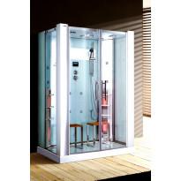 Infrapuna-höyrysauna ja hierova suihkukaappi Maestro Regal 22W, 145x90x215cm, valkoinen