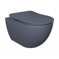 WC-istuin Creavit Free, seinämalli, basaltti, soft-close kansi