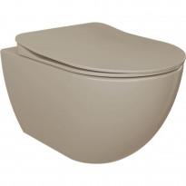 WC-istuin Creavit Free, seinämalli, cappucino, soft-close kansi