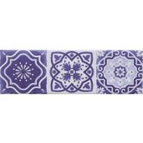 Seinälaatta Caisla Luxury Art Azul Serie, 240x75 mm, sininen/valkoinen
