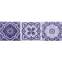 Seinälaatta Caisla Luxury Art Azul 2, 240x75 mm, sininen/valkoinen
