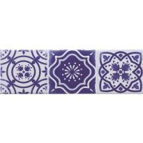 Seinälaatta Caisla Luxury Art Azul 3, 240x75 mm, sininen/valkoinen