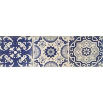 Seinälaatta Caisla Luxury Art Azul 4, 240x75 mm, sininen/valkoinen