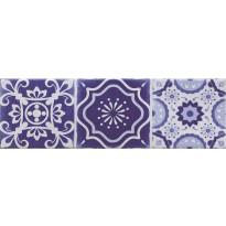 Seinälaatta Caisla Luxury Art Azul 5, 240x75 mm, sininen/valkoinen
