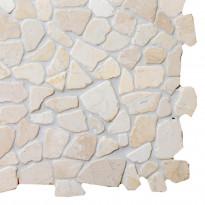 Marmorimosaiikki Qualitystone Mosaic White Interlock, verkolla, vapaa mitta