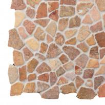 Marmorimosaiikki Qualitystone Mosaic Terra Interlock, verkolla, vapaa mitta